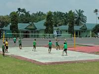 Korem 022/PT laksanakan Gelar Pertandingan Bola Voli Dalam Rangka Memperingati HUT RI ke-74 Tahun 2019