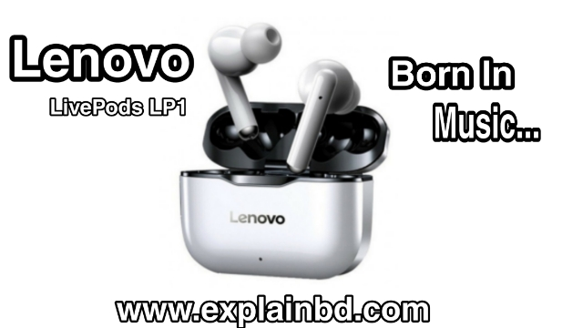 Lenovo LivePods LP1 TWS Wireless Bluetooth 5.0 Sport Earbuds