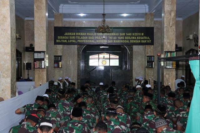 Peringati Maulid Nabi Muhammad SAW, Prajurit Divif 2 Kostrad Gelar Istighosah di Malang