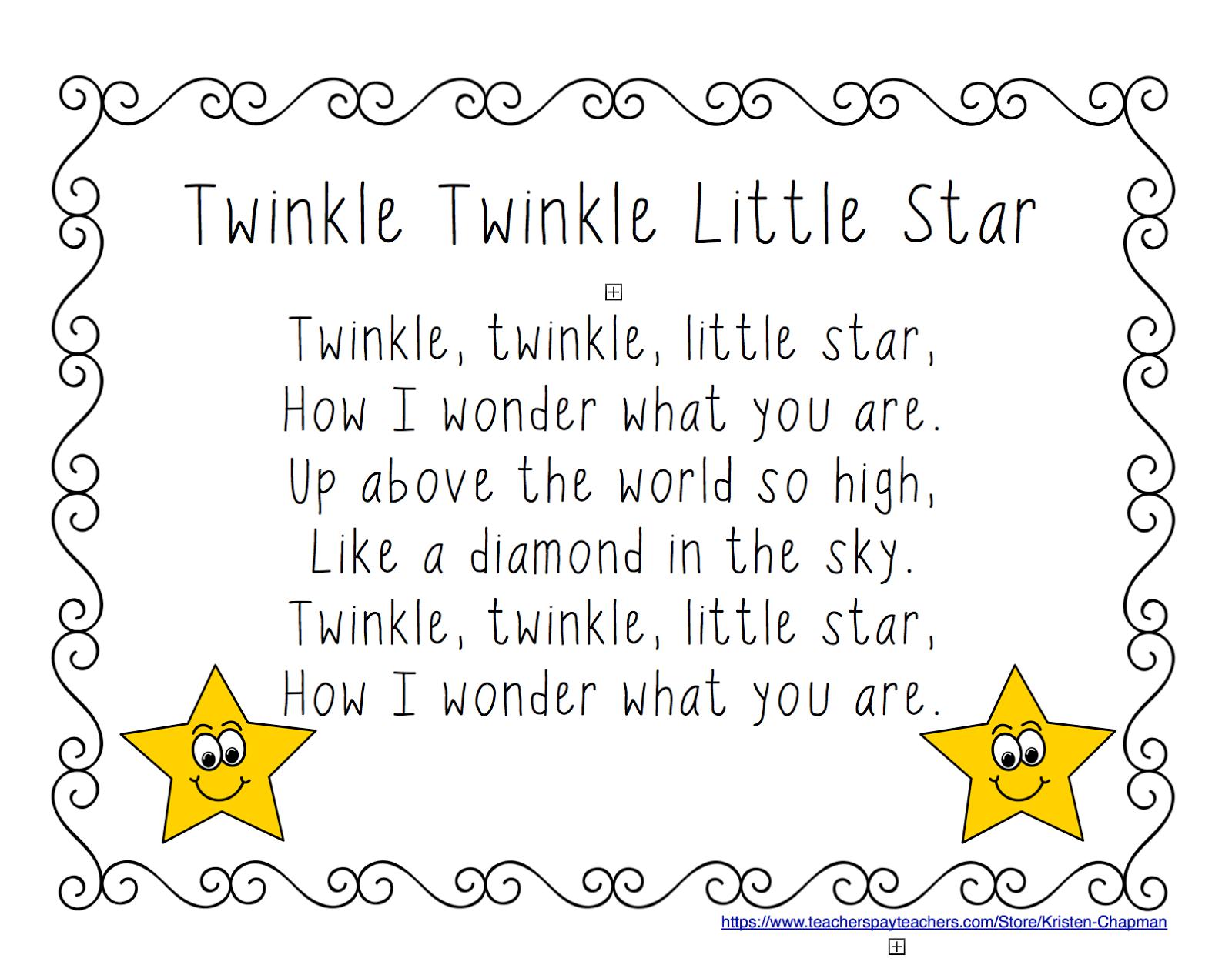 Early Childhood Scribbles Twinkle Twinkle Little Star