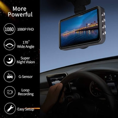 Carigogo FHD Front and Rear Cars Dash Cam