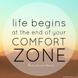 Think about your comfort zone
