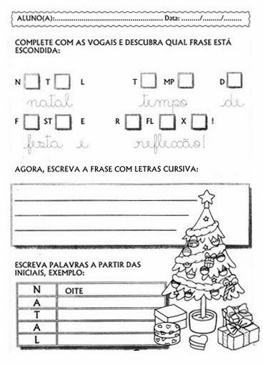 Educar X Atividades Para O Natal Ensino Fundamental