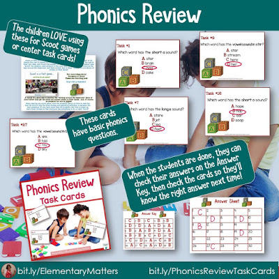 https://www.teacherspayteachers.com/Product/Task-Cards-for-Second-and-Third-Grade-Parts-of-Speech-Language-250927?utm_source=Reviewing%20Blog%20Post&utm_campaign=Phonics%20Review
