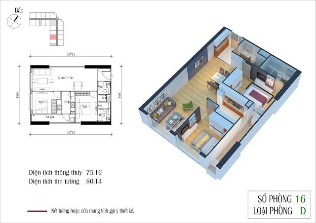 Thiết kế căn 16 tòa CT2 Eco Green City