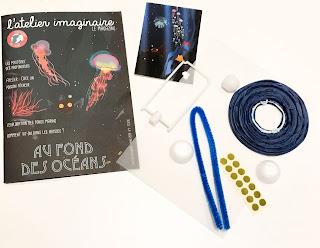 Composition du kit créatif le fonds des océans