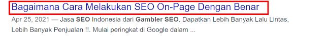 judul halaman mesin pencari google