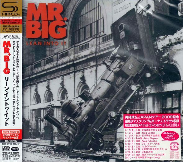 Mr. BIG - Lean Into It [Japanese Remaster SHM-CD LTD Release +4] Out Of Print full