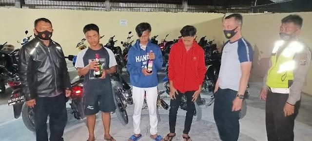 Sat Lantas Polres Tanjung Balai Tangkap Enam Unit Sepeda Motor Balap Liar