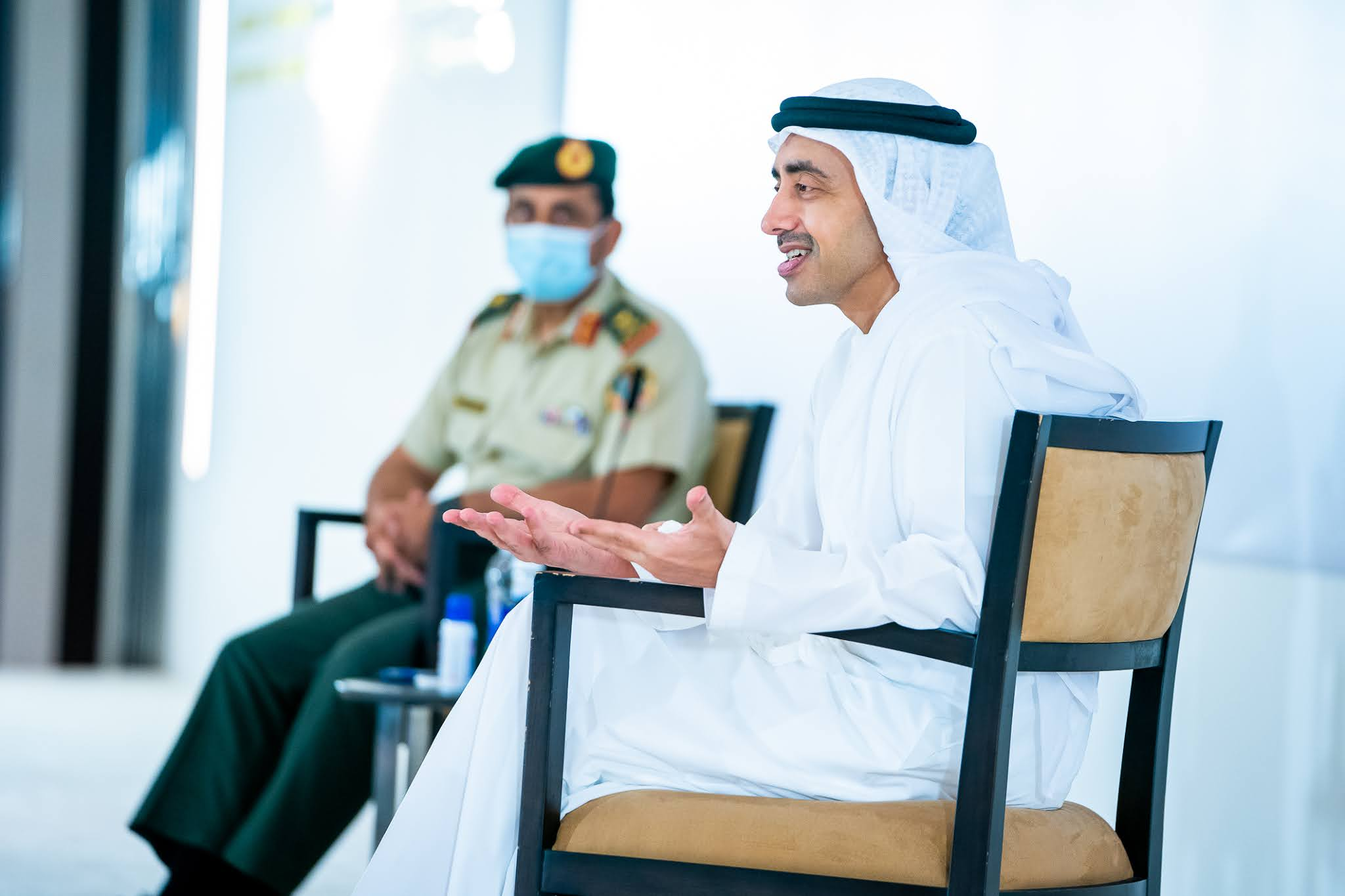 Sheikh Abdullah meets students of National Defence College