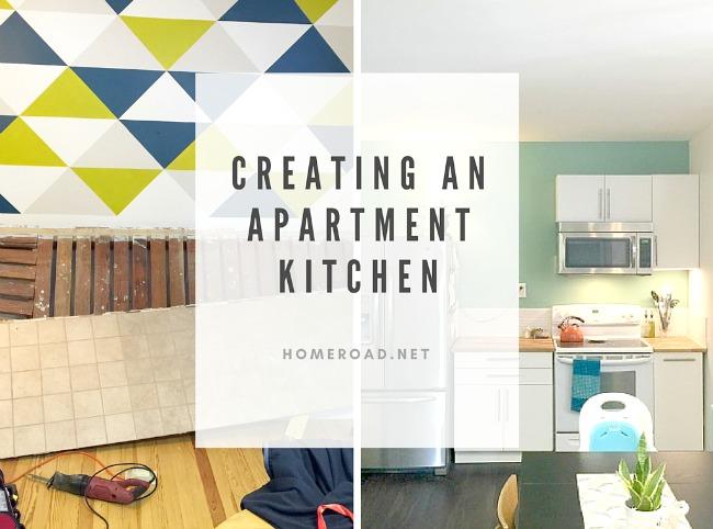 A DIY kitchen renovation in an apartment www.homeroad.net