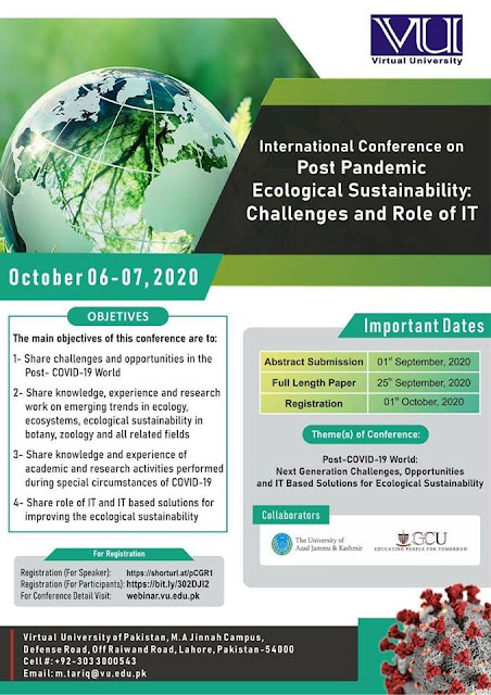 Intl. Conference on Post Pandemic Ecological Sustainability