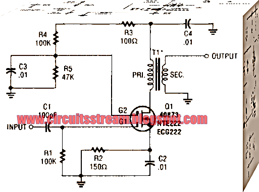 Simple Mosfet Buffer Amplifier Circuit Diagram
