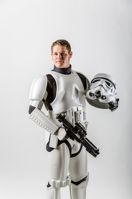 Stormtrooper with helmet off