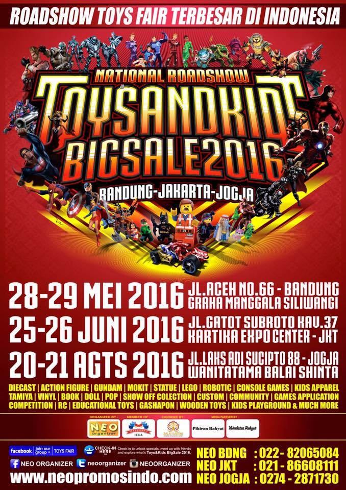 National Roadshow Toys & Kids Expo 2016 mei juni agustus