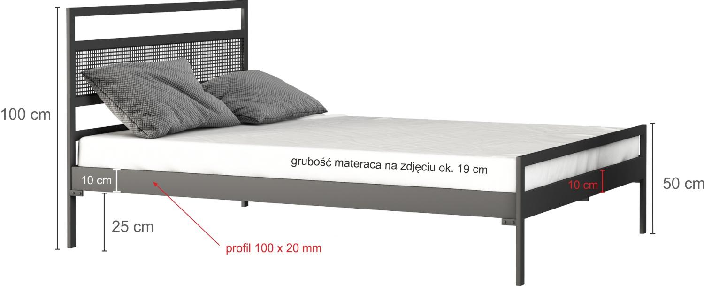 Łóżko metalowe wzór 42 - łóżko podwójne