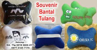 Souvenir Bantal Tulang, Bantal Tulang Mobil, Bantal Tulang Karakter, Souvenir Bantal Mobil Murah Bentuk Tulang