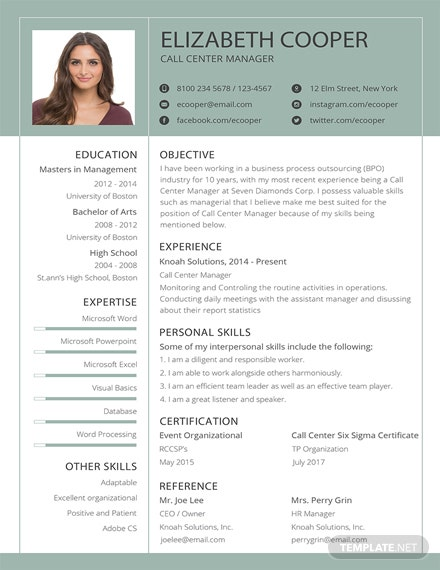contoh template CV kreatif