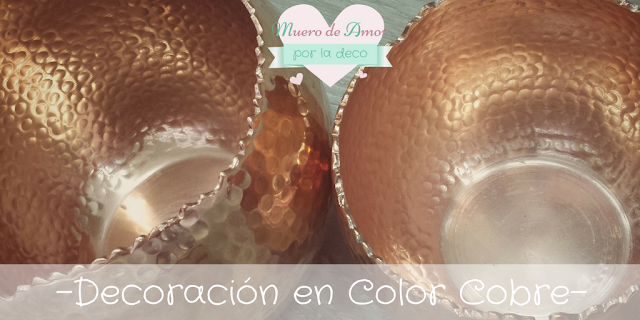 Decoracion en color cobre