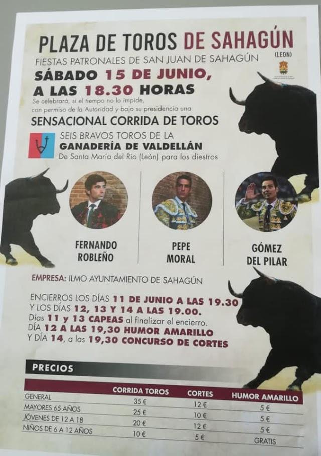 Feria Taurina San Juan de Sahagún ya tiene cartel