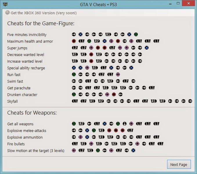 GTA 5 - GTA V Cheats For PS3