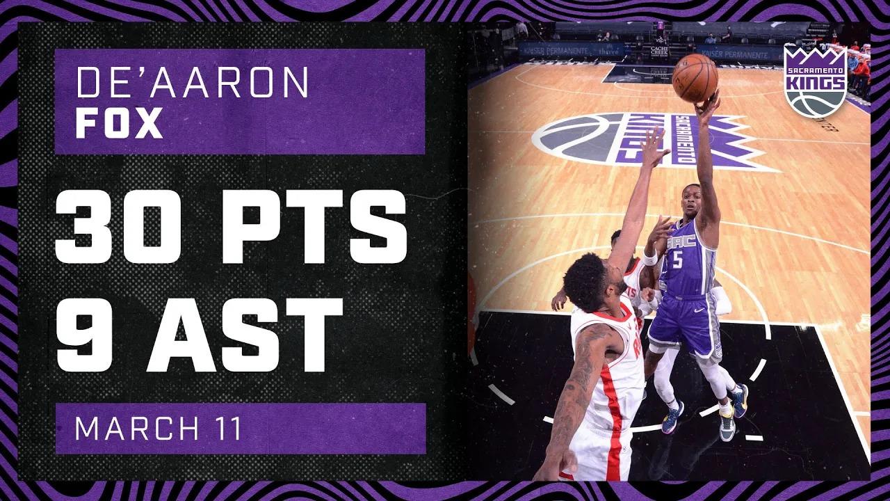 De'Aaron Fox 30pts 9ast vs HOU   March 11, 2021   2020-21 NBA Season