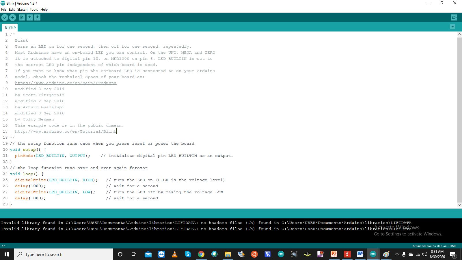 Arduino_LED_BLINK_Program_TechnoElectronics44