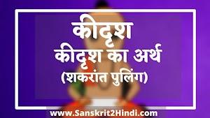 ᐈकीदृश keedrish का अर्थ ✅कीदृश keedrish Meaning in Sanskrit|कीदृश kidrish Meaning in Hindi |कीदृशः keedrish Meaning in English|कीदृश: kidrishah का हिंदी अर्थ