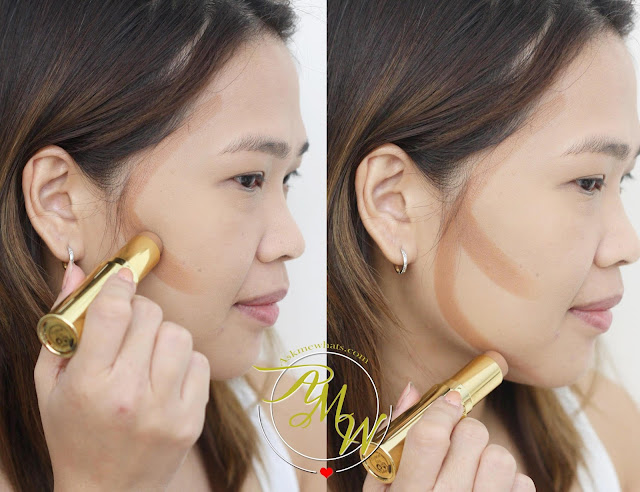 a photo on how to use Benefit Hoola Quickie Contour Stick Review
