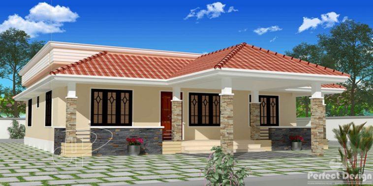 Plano de casa de 111 metros cuadrados