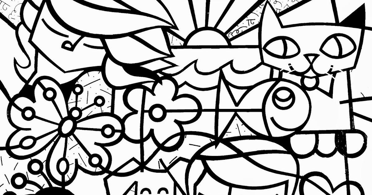 Melhor De Desenhos Para Colorir E Imprimir De Romero Britto
