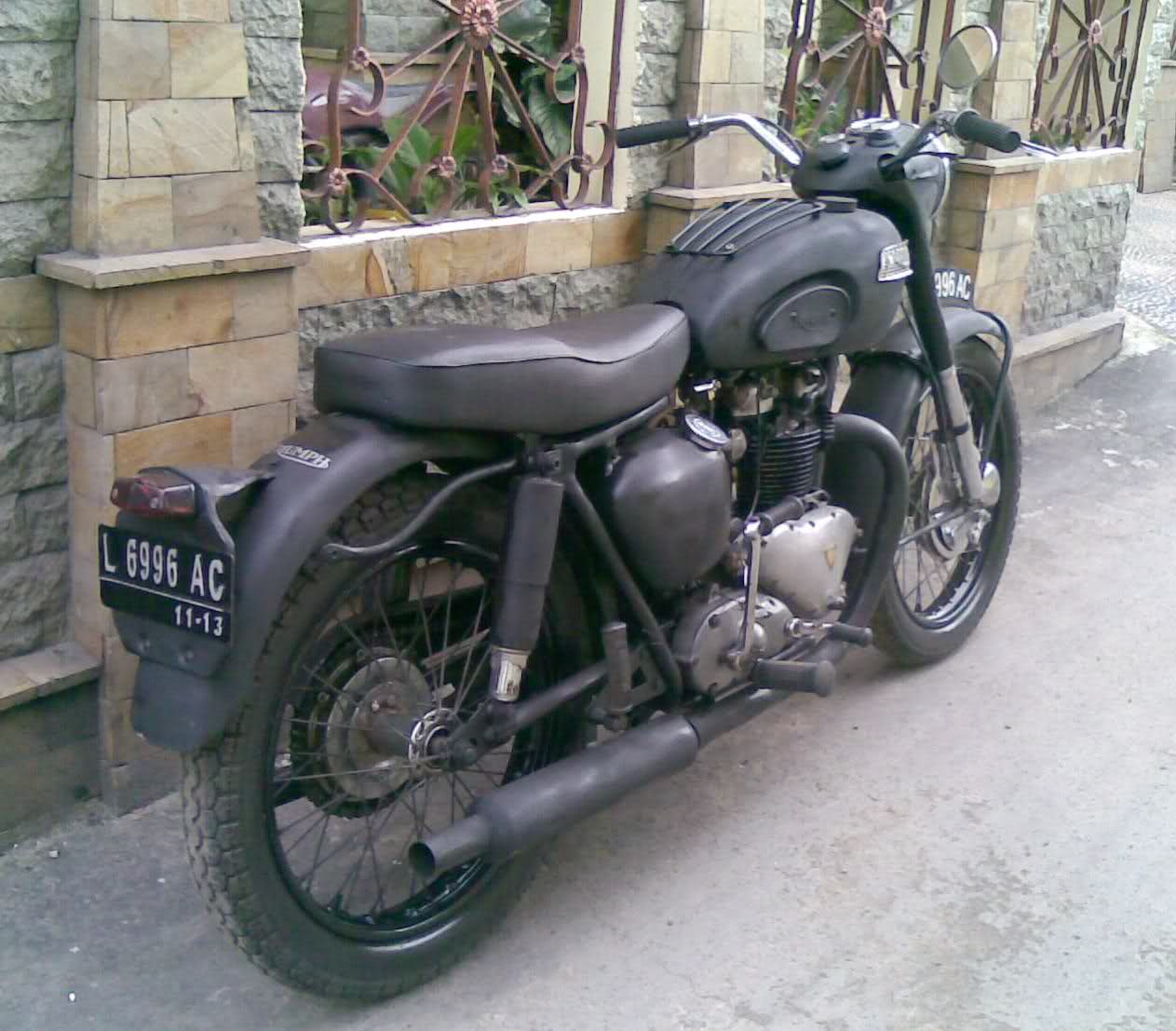 1955 Triumph Thunderbird 6T Classic Motorcycle