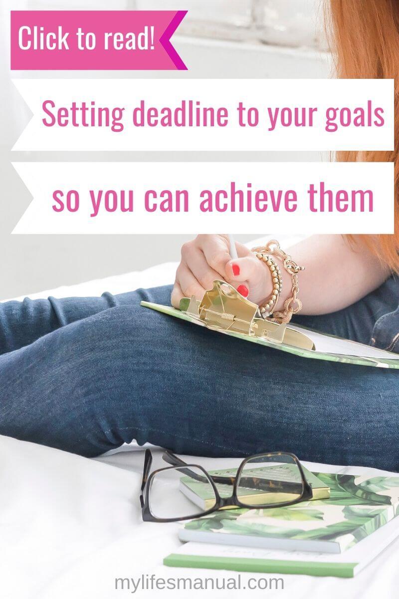 Goal setting tips.