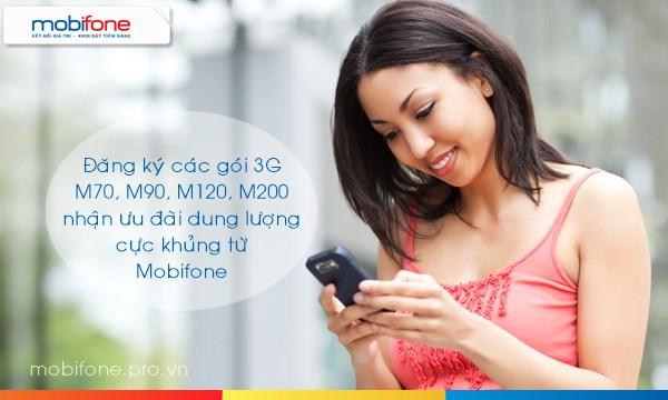 Tặng dung lượng khủng khi đăng ký 3G Mobifone đến hết 26/5/2017