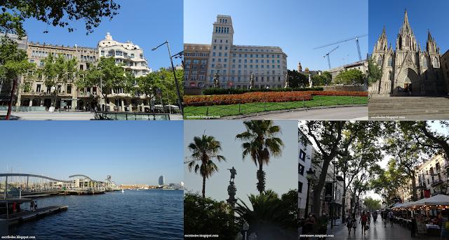 Viaje a Barcelona: edificio modernista cerca del museo Egipcio, Plaza de España, Catedral, Puerto Nuevo, Estatua de Colón y la Rambla