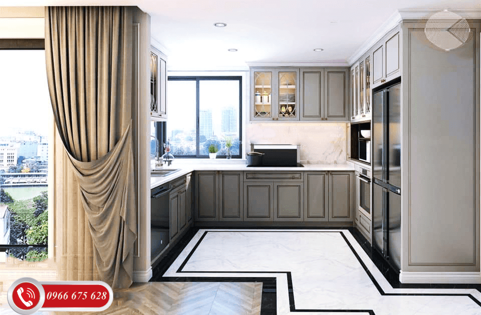 Phòng bếp căn Dual Key chung cư 622 Minh Khai