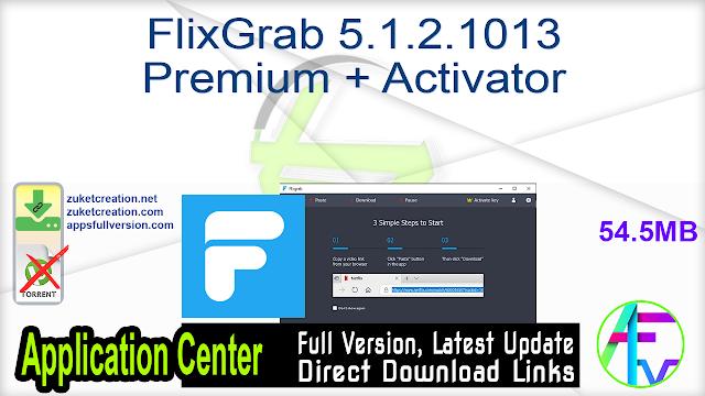 FlixGrab 5.1.2.1013 Premium + Activator
