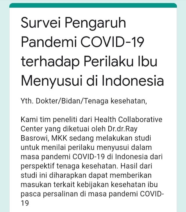 Survei Pengaruh Pandemi COVID-19 terhadap Perilaku Ibu Menyusui di Indonesia