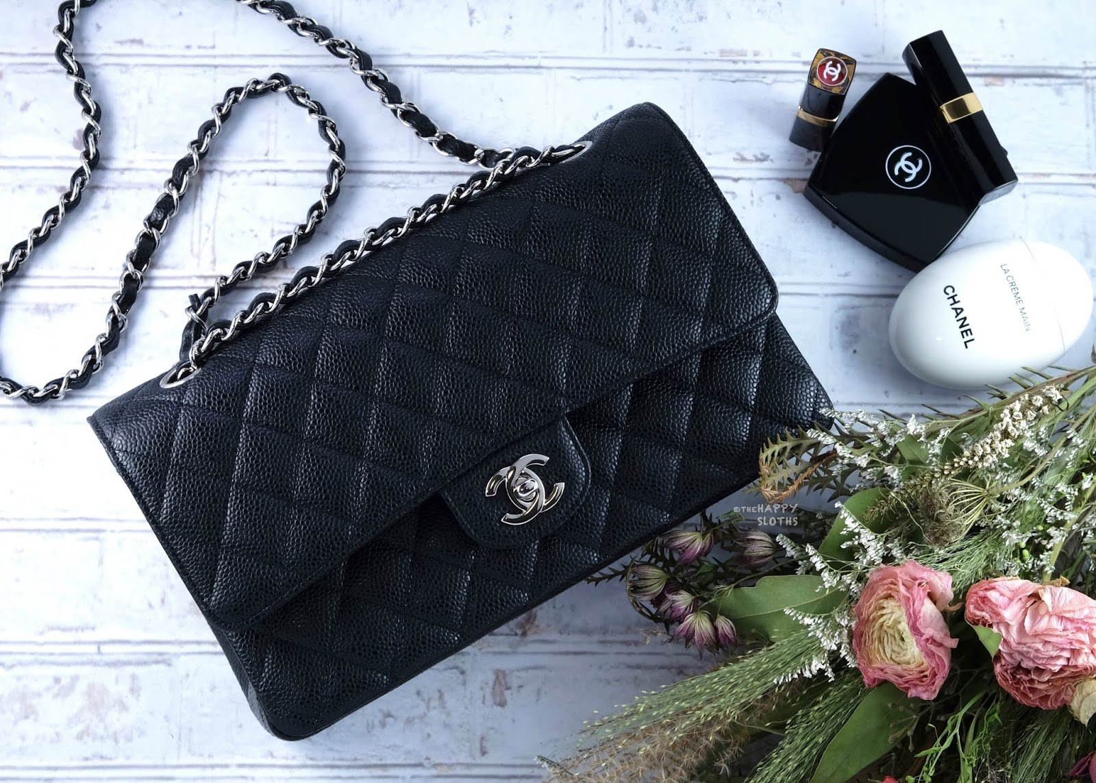 Chanel | Medium Classic Flap Handbag in Black Caviar Leather with Silver Hardware: Review