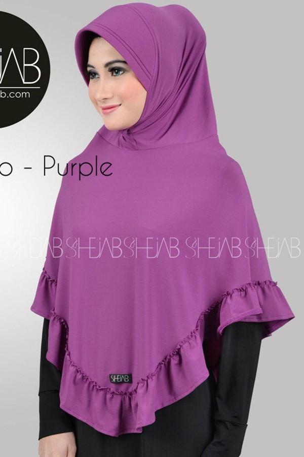 Hijab Bergo Ungu Ayla Shejab