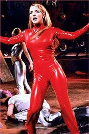 Red latex bodysuit
