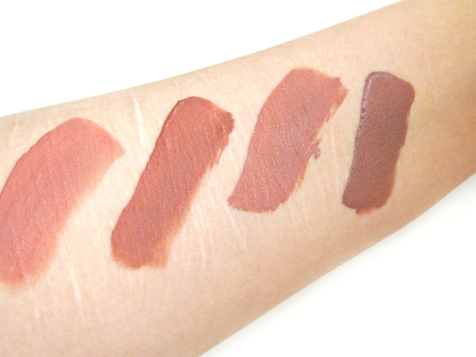 Huda Beauty, Huda Beauty lipstick, huda liquid matte, huda swathes, huda liquid matte swatches pale skin