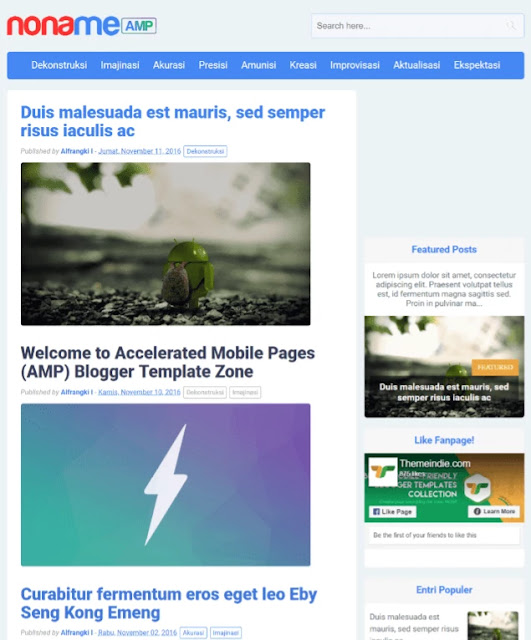 noname blogger template, amp blogger template, best free google amp supported blogger templates, amp blogger template free download, seo friendly blogger template