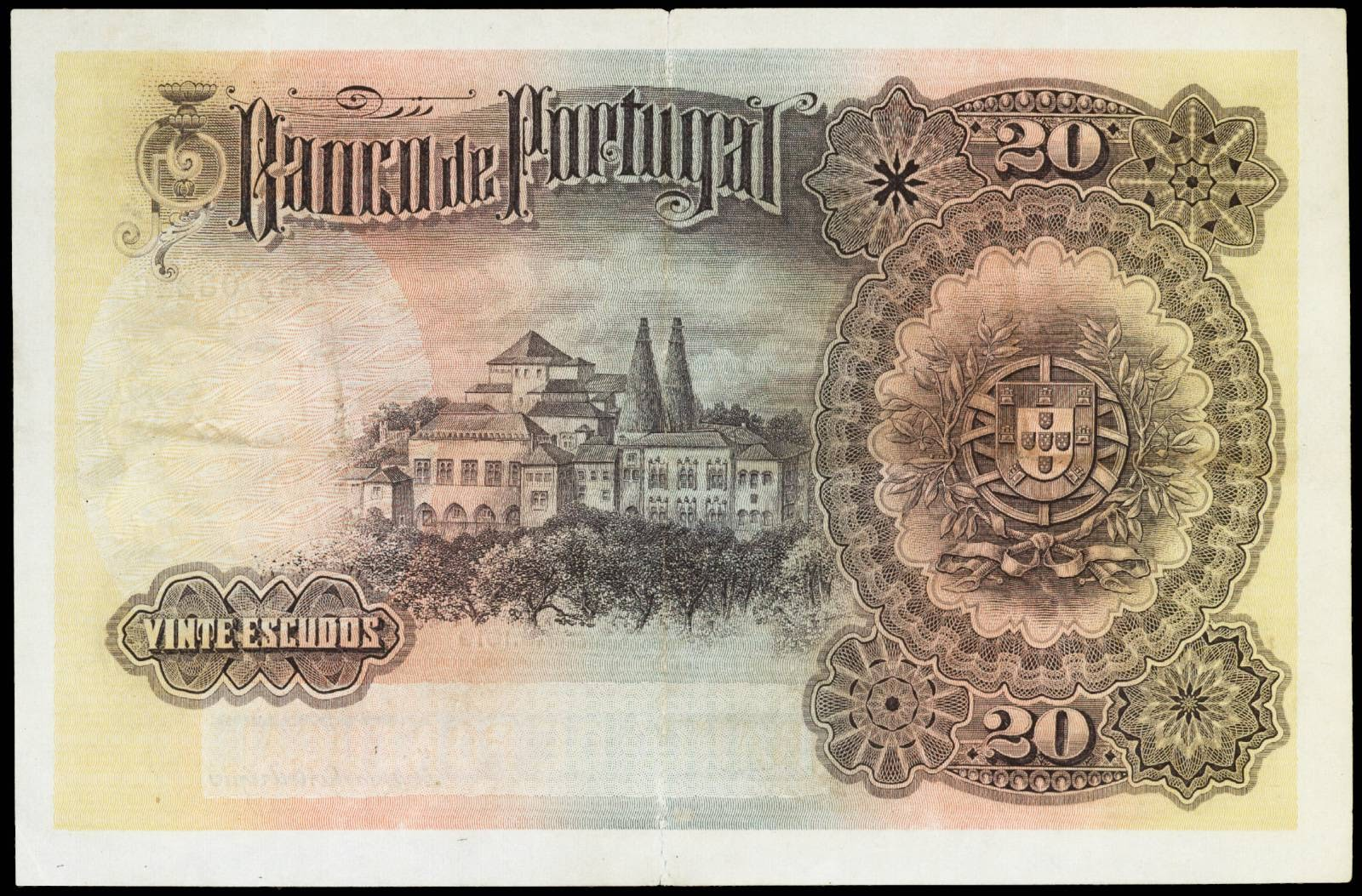 20 Portuguese Escudos banknote 1919 Sintra National Palace