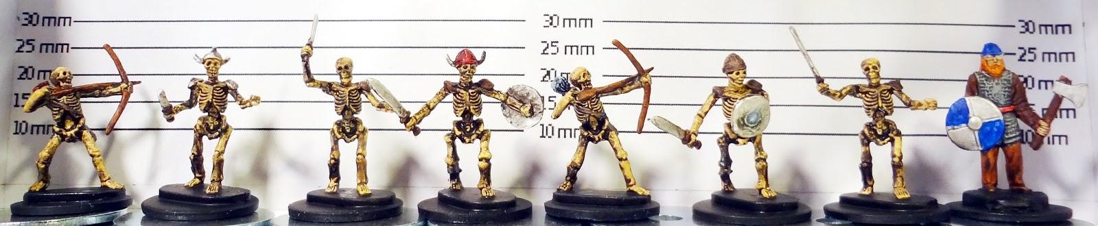 15mm minis vs  Tiles - Dwarven Forge