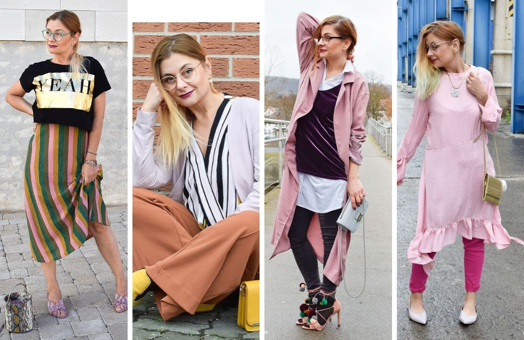 Rosa-mit-anderen-Farben-Outfit