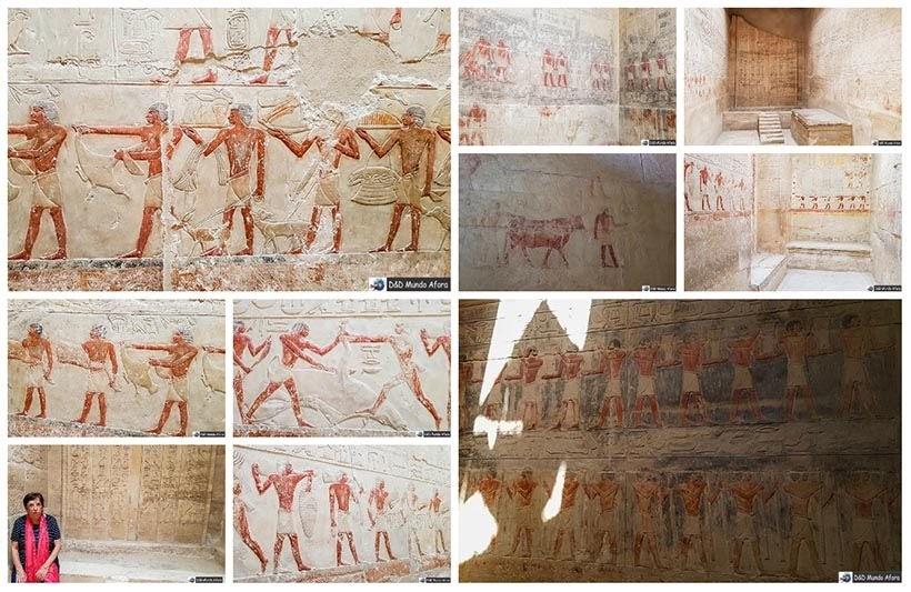 Interior das estruturas funerárias em Saqqara - Diário de Bordo: 2 dias no Cairo