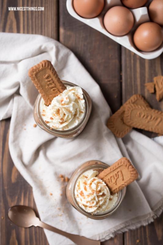 Karamell Mousse Biscoff Mousse Dessert Creme #biscoff #mousse #karamell #dessert #schichtdessert #kekse