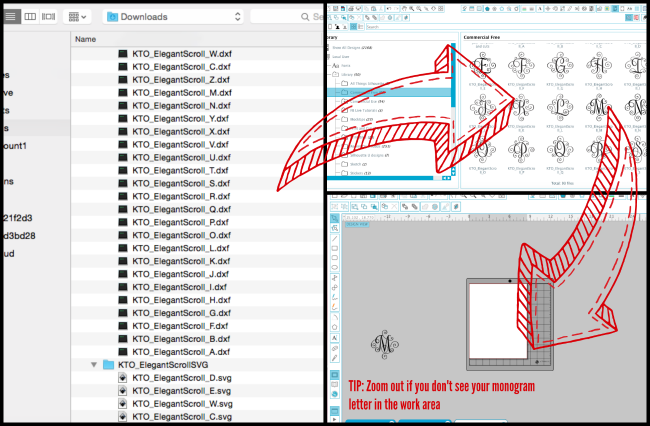 bulk import files silhouette studio library svg tutorial
