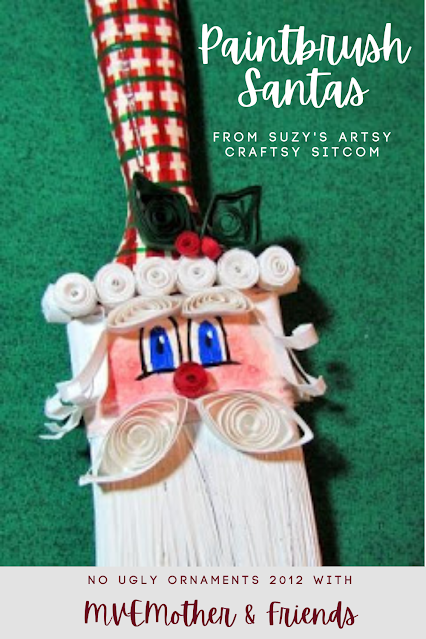 Christmas Paintbrush Santa Ornament